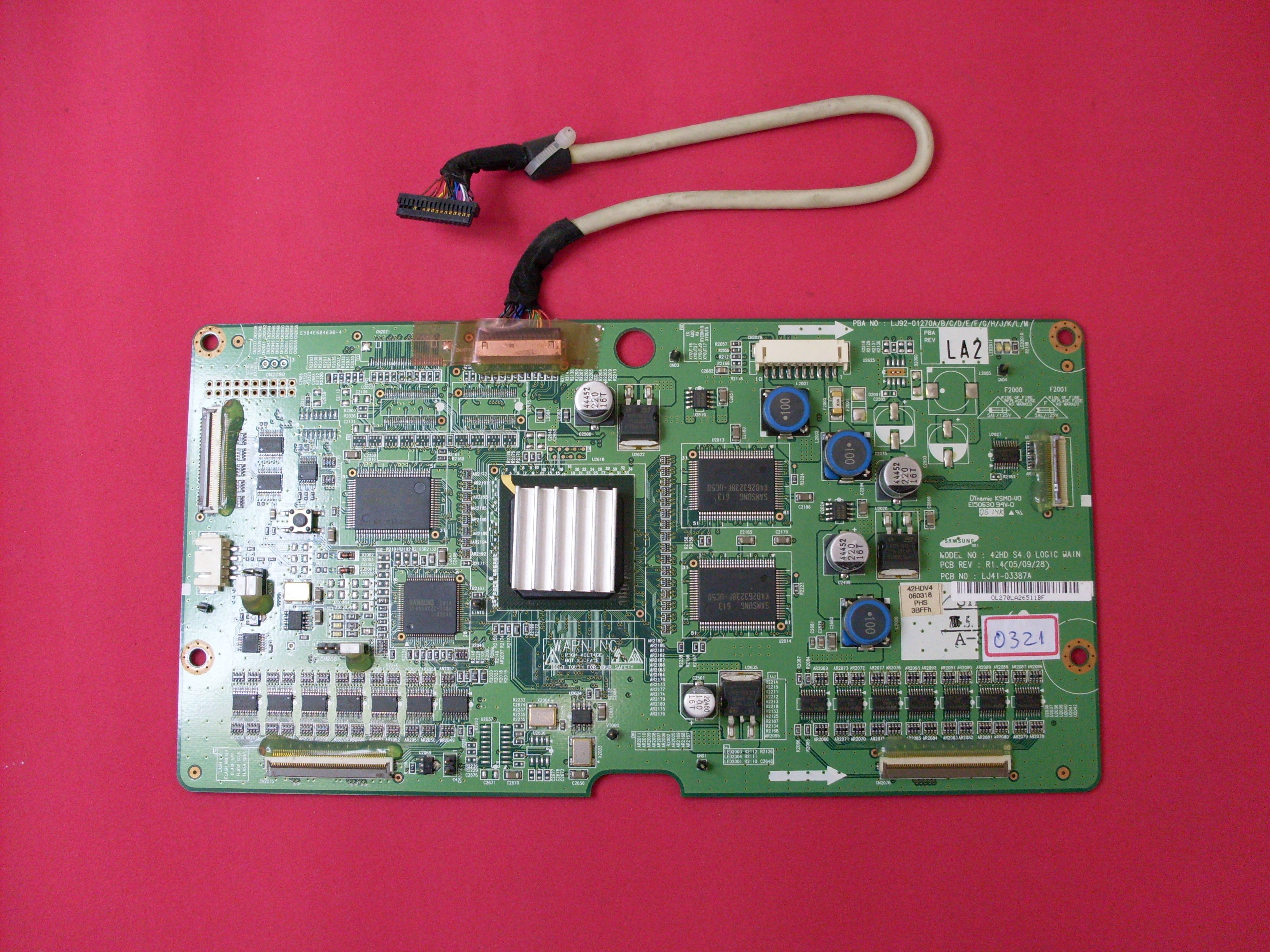 PLACA DIGITAL LJ92-01270A/B/C/D  LJ41-03387A PLASMA PHILIPS 42PF7321 SEMI-NOVA