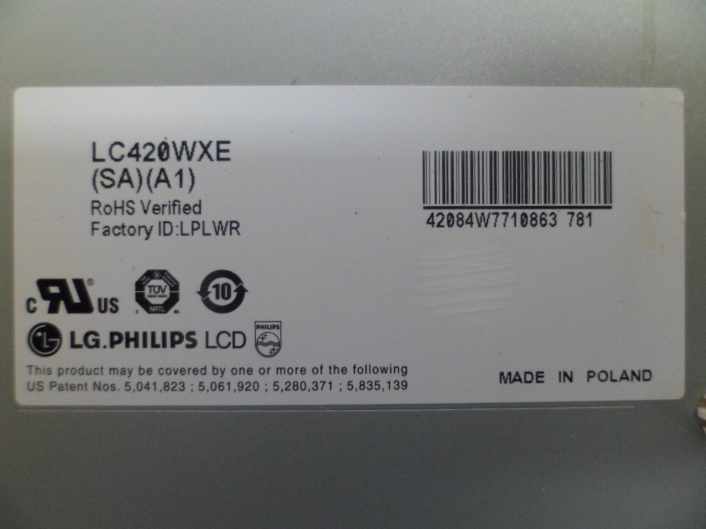 TELA DISPLAY PHILIPS 42PFL3403 LC420WXE (SA) (A1) SEMI-NOVO